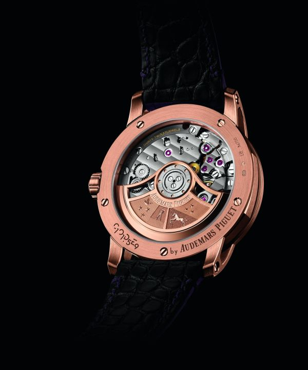 Code 11.59 by Audemars Piguet Self-winding 18-carat pink gold case Smoked purple lacquered dial with sunburst pattern