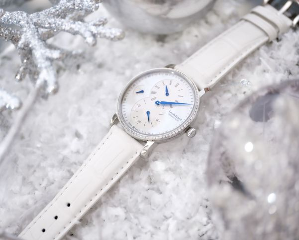Louis Erard Excellence Régulateur Limited Edition with Mother-Of-Pearl Dial and Gem Set Bezel