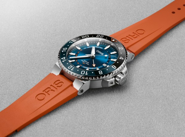 Oris Carysfort Reef Limited Edition (In Stainless Steel)with orange rubber strap
