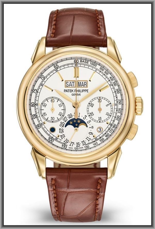 Patek Philippe Ref. 5270J-001 Perpetual Calendar Chronograph (With Yellow Gold Case and Silvery Opalescent Dial)