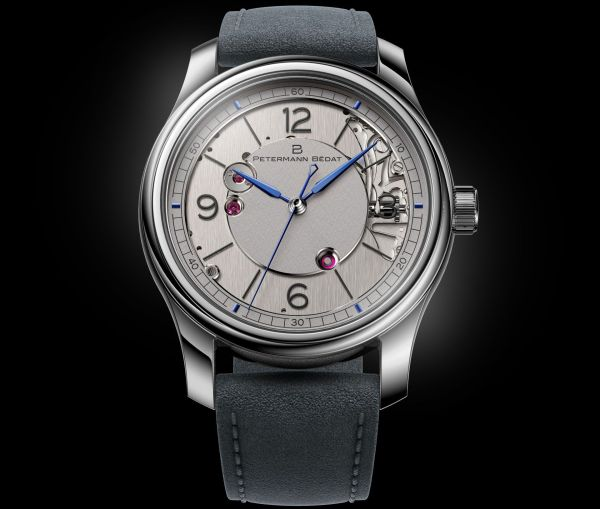 Petermann Bédat 1967 hand-wound watch with dead beat seconds white gold edition