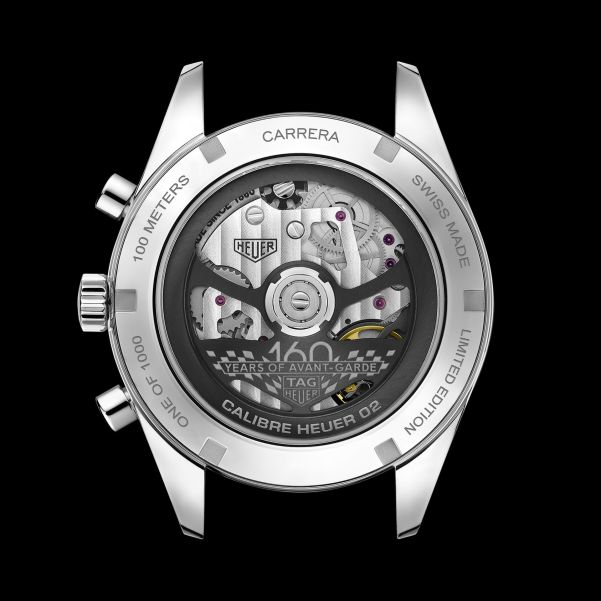 TAG Heuer Carrera 160 Years Montreal Limited Edition caseback view