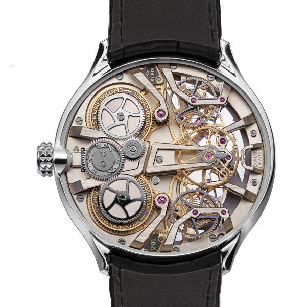 Bernhard Lederer Central Impulse Chronometer white gold caseback