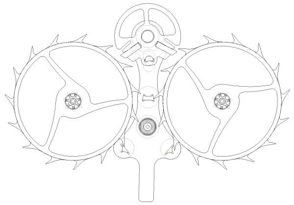 Central Impulse Chronometer escapement