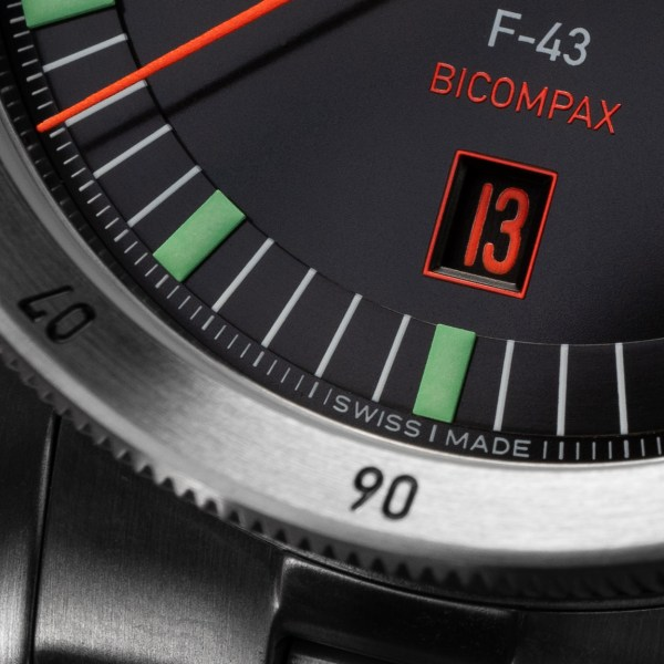 Fortis FLIEGER F-43 BICOMPAX chronograph BRIXTRACK®