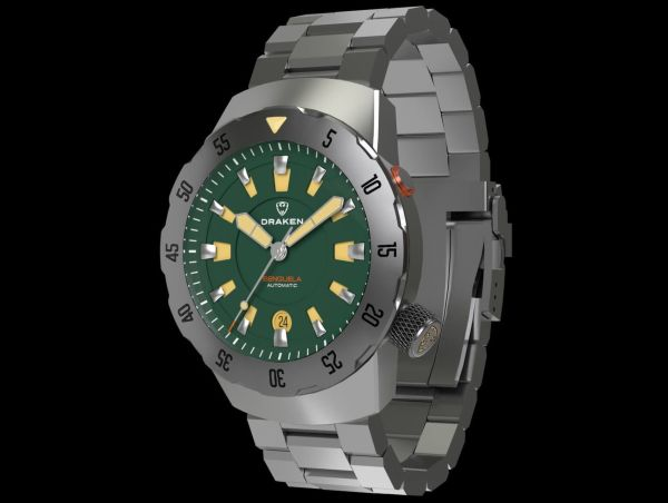 Draken Benguela automatic watch with green dial
