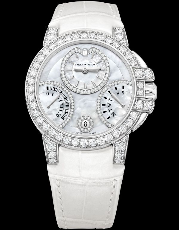Harry Winston Ocean Biretrograde Automatic 36mm new model 2020 white gold mother of pearl dial