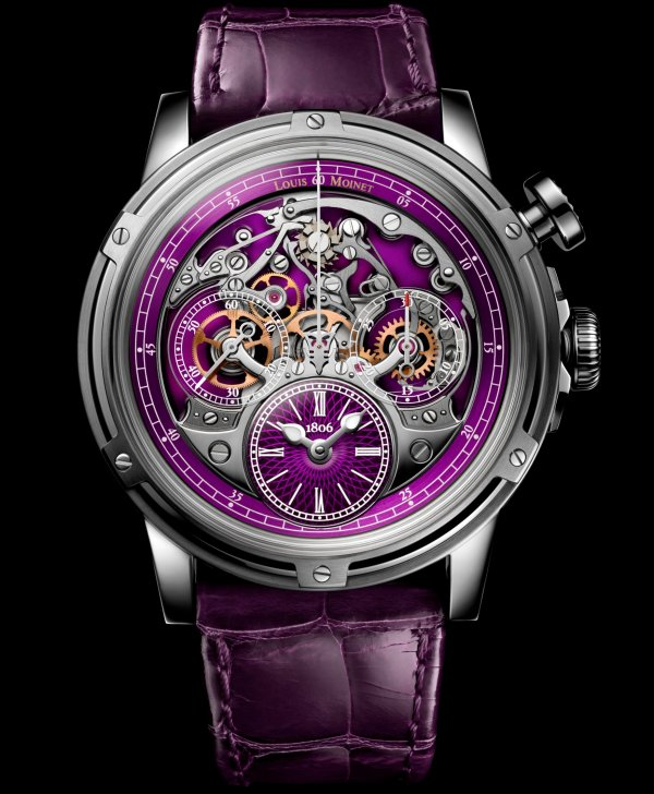 Louis Moinet Memoris Superlight Purple, Ref. LM-79.20.17/ Limited edition of 28 pieces