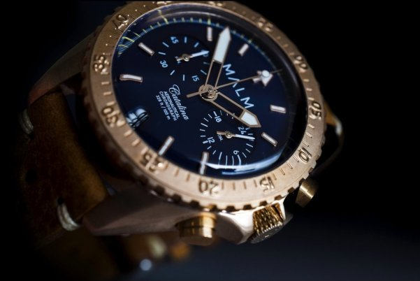 MALM Blue Bronze Catalina Aeronautical Chronograph