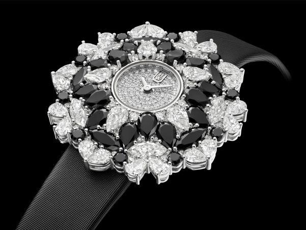 Winston Kaleidoscope High Jewelry Watch Black & White