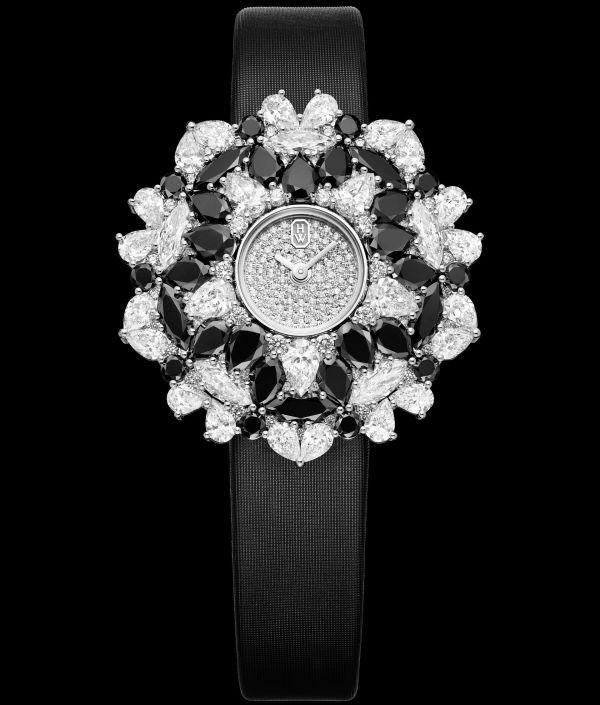 Winston Kaleidoscope High Jewelry Watch Black & White, HJTQHM36PP005