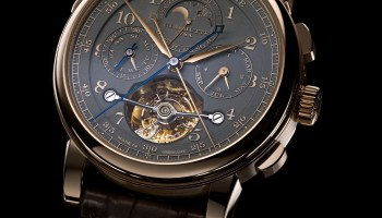 "A. Lange & Söhne ""Homage to F. A. Lange"" Special Edition Honey Gold Series: the TOURBOGRAPH PERPETUAL HONEYGOLD"