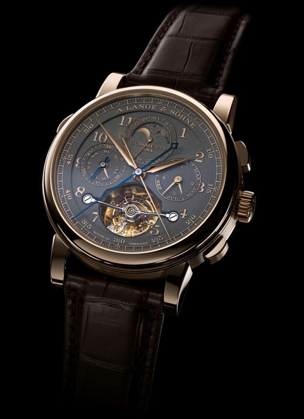"""A. Lange & Söhne """"Homage to F. A. Lange"""" Special Edition Honey Gold Series: the TOURBOGRAPH PERPETUAL HONEYGOLD"""