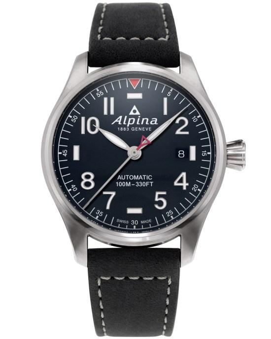 Alpina Startimer Pilot Automatic 40 mm AL-525NN3S6 navy blue dial
