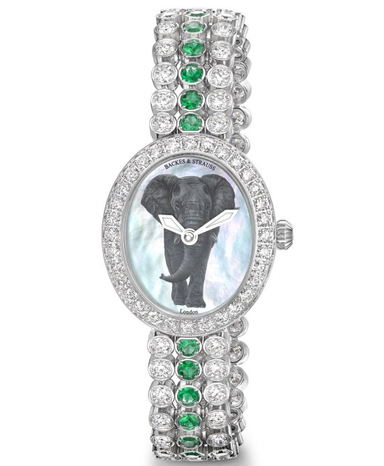 Backes & Strauss Green African Elephant (For Gemfields Walk for Giants Capsule Collection)