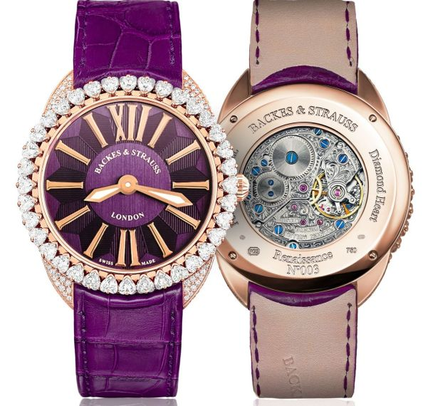 Backes & Strauss Queen of Hearts royal purple watch
