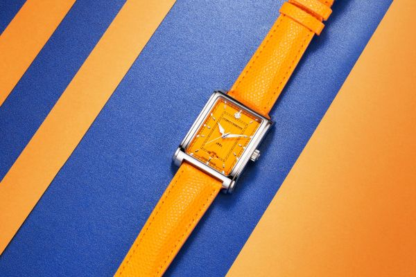 Cuervo y Sobrinos Señora Caramelo watch orange dial