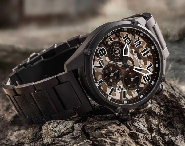 ELEGANTSIS Camouflage Style JF47 Tactical Precision Wristwatch