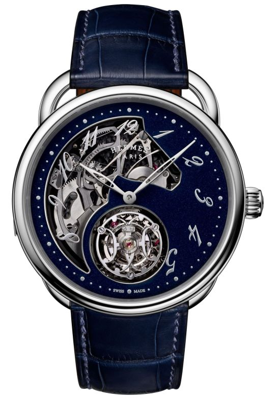Hermès Arceau Lift Tourbillon Répétition Minutes white gold