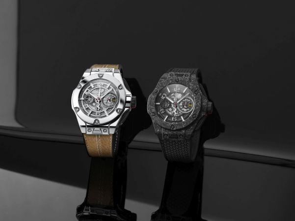 Hublot Big Bang Ferrari 1000 GP Limited Editions in Polished White Gold (Reference 402.WX. 0112.VR) and Carbon Ceramic (Reference 402.QC.0112.NR)