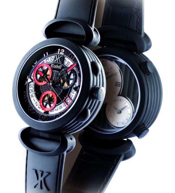 "Korloff Highway Chronographe (""Voyageur"" Men's Reversible Watch)"