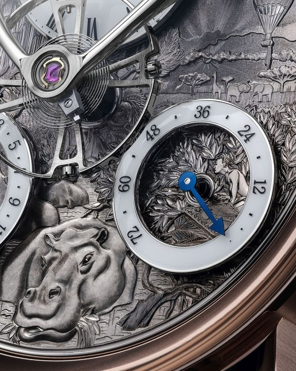 MB&F LM Split Escapement Eddy Jaquet Dial plate - Five Weeks In A Balloon