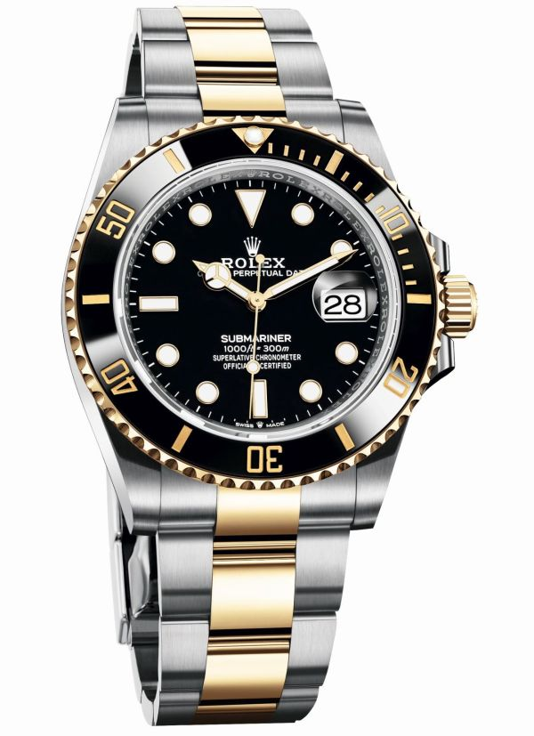 Rolex Oyster Perpetual Submariner Date in Yellow Rolesor with a Black Cerachrom bezel and a black dial, Reference 126613LN