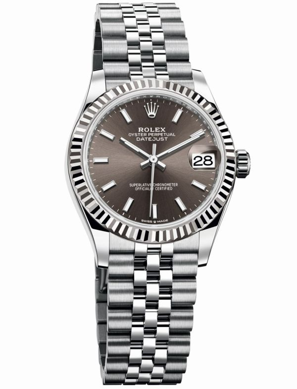 Rolex Oyster Perpetual Datejust 31 with Dark grey dial