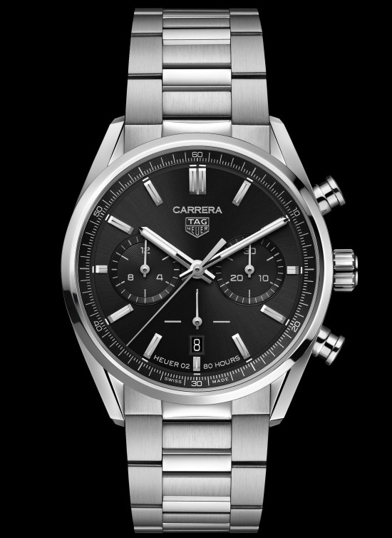 TAG Heuer Carrera Chronograph 42 mm Calibre Heuer 02 Automatic (Black opaline dial), Reference CBN2010.BA0642