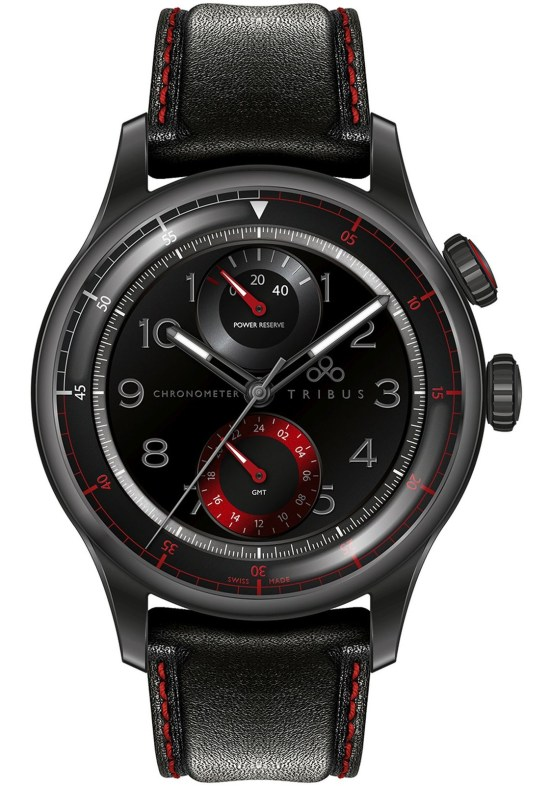 TRIBUS TRI-04 Power Reserve GMT Sport COSC watch