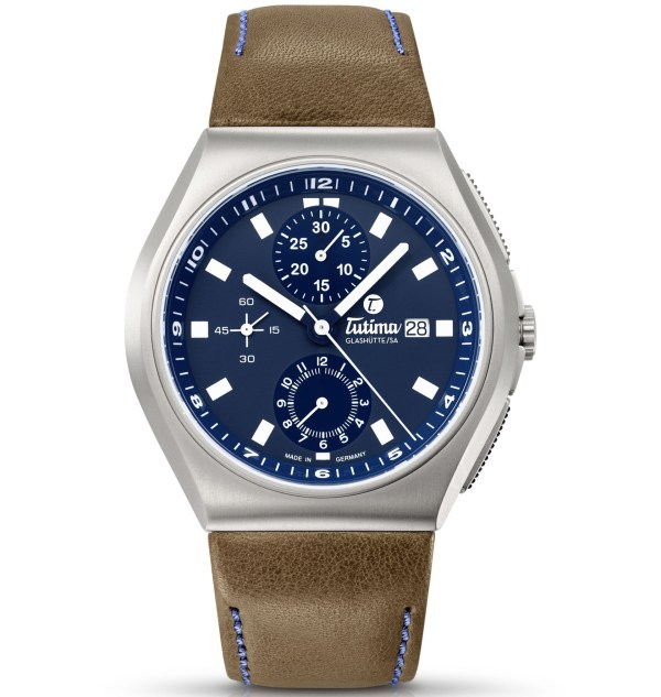 Tutima M2 Coastline Chronograph Automatic with leather strap