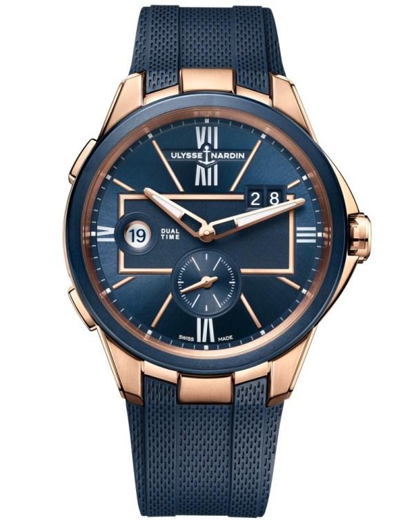 Ulysse Nardin 42 Mm Dual Time watch rose gold model 2020