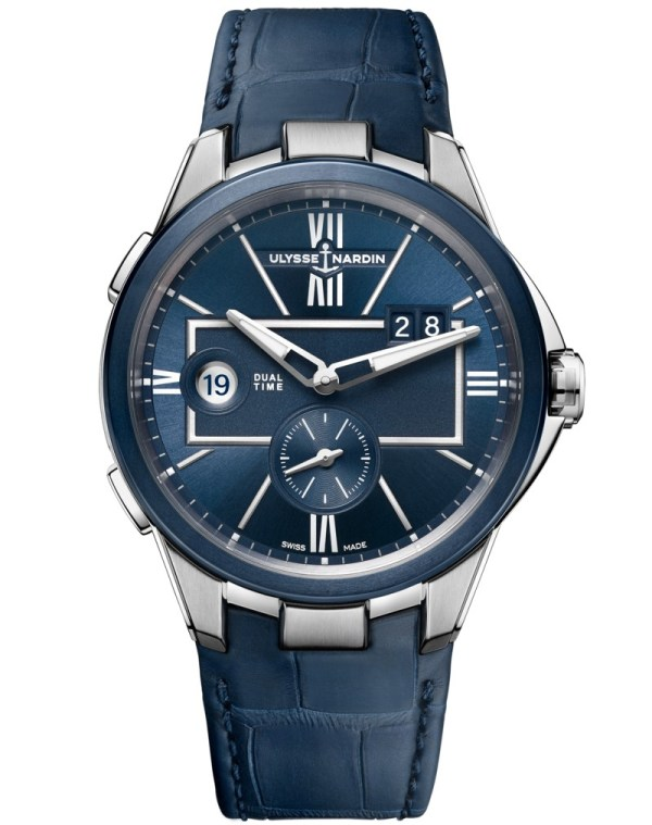 Ulysse Nardin 42 Mm Dual Time watch new collection 2020 blue version