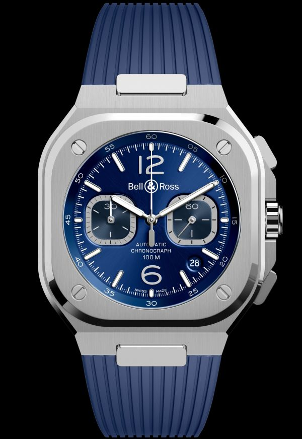 Bell & Ross BR 05 Chronograph with blue dial and blue strap