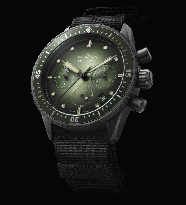 Blancpain Fifty Fathoms Bathyscaphe Chronographe Flyback Green (Ref. 5200-0153-B52A)