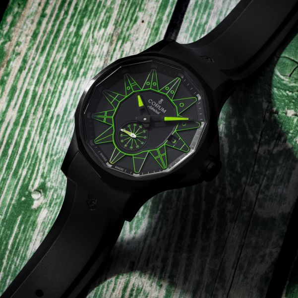 Corum Admiral 42 Automatic Full Black (New Color Versions) Green