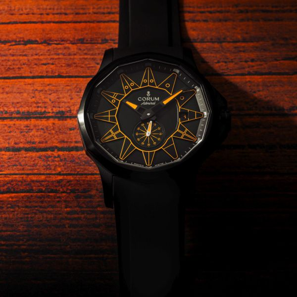 Corum Admiral 42 Automatic Full Black (New Color Versions) Orange