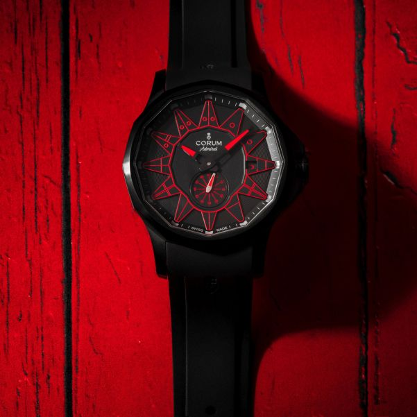 Corum Admiral 42 Automatic Full Black (New Color Versions) Red