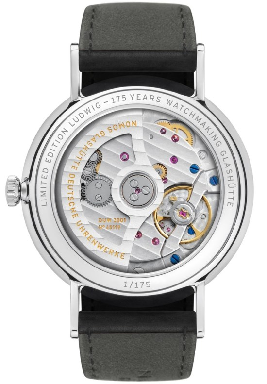 Ludwig neomatik 39—175 Years Watchmaking Glashütte 2D glass back (ref. 250.S1)