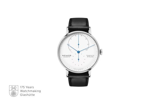 NOMOS Glashütte Lambda in Stainless Steel Limited Edition watch with white enamel dial