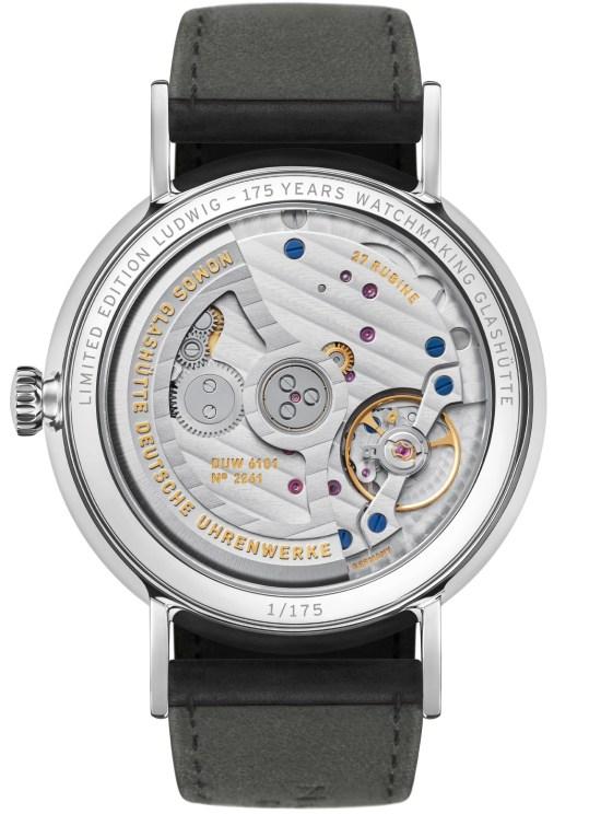 NOMOS Glashütte Ludwig Limited Edition 175 Years Watchmaking Glashütte - Ludwig neoma_k date caseback