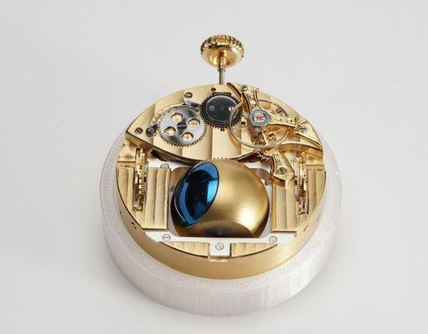 Norifumi Seki Spherical moon and drum calendar pocket watch