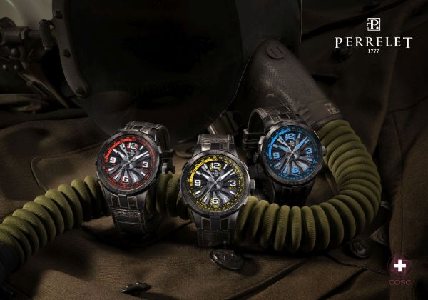 Perrelet Turbine Pilot New Versions 2020 - Electric Blue, Yellow and Red Versions