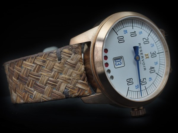 RESERVOIR Tiefenmesser Bronze Plume (with feather strap made by ATELIER M.MARCEAU)