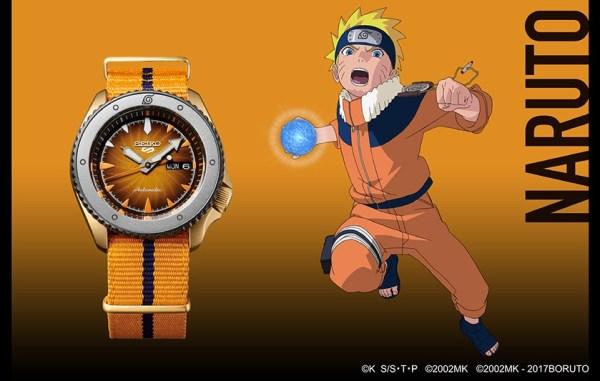 Seiko 5 Sports Naruto Uzumaki (Ref. SRPF70) limited edition watch