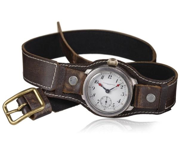 Vacheron Constantin Steel aviator's watch, enamel dial – 1903