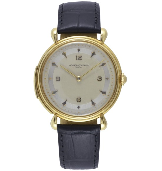 Vacheron Constantin Yellow gold ultra-thin men's wristwatch with minute repeater, silvered dial – 1943