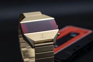 YEMA LED watch gold