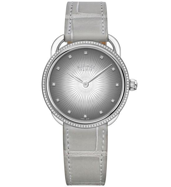Hermès Arceau Soleil watch grey dial