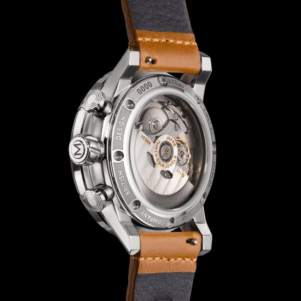 Marloe Watch Company 'Atlantic' Chronoscope Caseback view